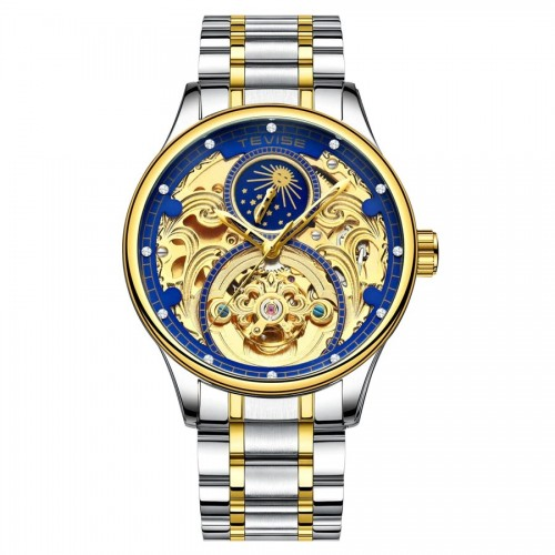 Pirogue Automatic Moonphase Two Tone/Blue