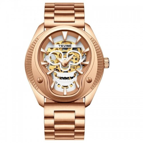 The Skull Steel Luminous Automatic Rose Gold