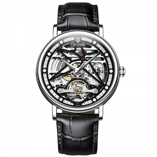 Amistad Wheel Automatic Leather Silver/Black