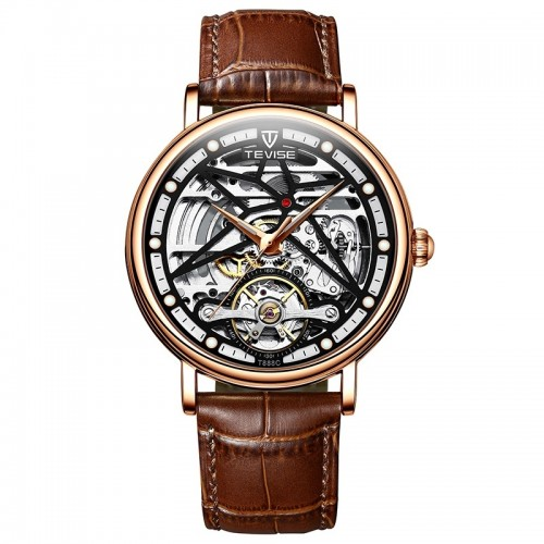 Amistad Wheel Automatic Leather Rose Gold/Black