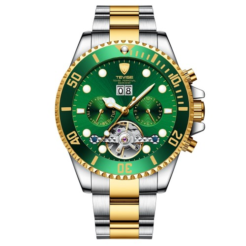 Perpetual Flywheel Date Automatic Two Tone Green