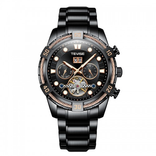 Barbarian Automatic Ionic Black/Rose Gold