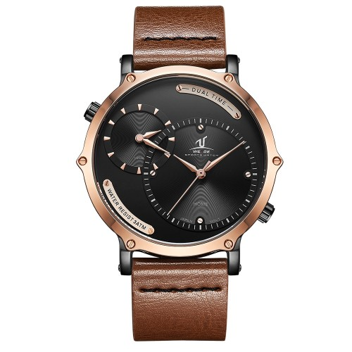 Archer Dual Time 46mm Rose Gold/Brown