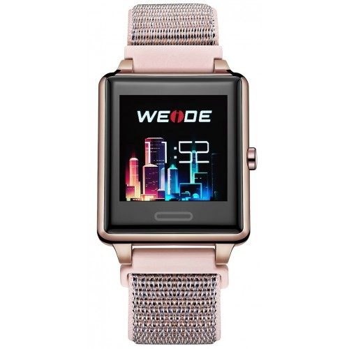 SMART WATCH Rose Gold/Nylon Pink