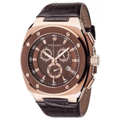 Men's Quentin Swiss Coffee/Rose Gold Watch