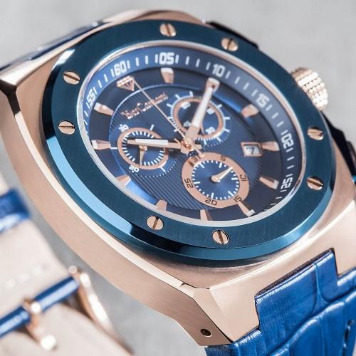 Men's Quentin Swiss Blue/Rose Gold Watch