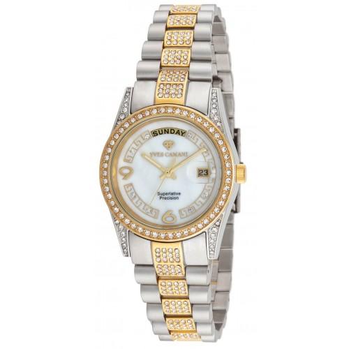 Women's Gold Pearl Watch