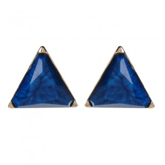 Bermuda Stud Earring Blue Lapis