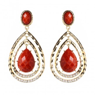 Catriona Earring Coral