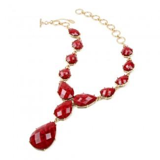 Camella Teardrop Necklace Ruby