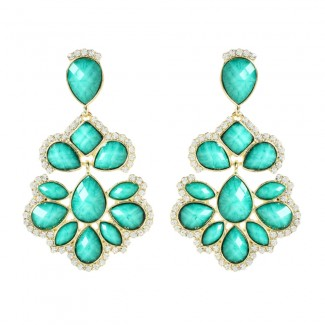 Nello Crystal Earring Turquoise