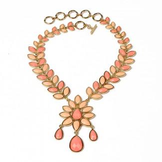 Dune Necklace Peach/Light Coral