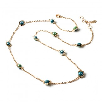 South Hampton Station Necklace Green