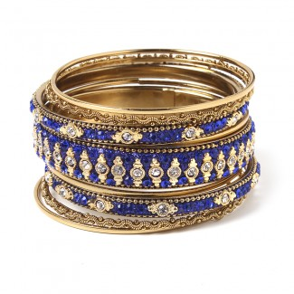 Keya Bangle Set Blue