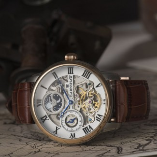 Longitude Automatic Watch Brown Leather