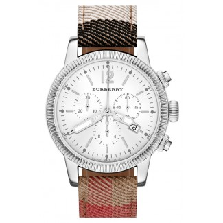 Chronograph Check Strap Watch 42mm