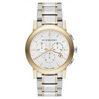 Check Stamped Chronograph Bracelet Watch BU9751