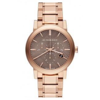 Check Stamped Chronograph Bracelet Watch BU9754