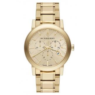 Check Stamped Chronograph Bracelet Watch BU9753