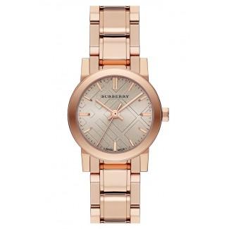 Check Stamped Round Bracelet Watch BU9228