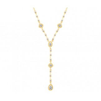 Flare Necklace in 14K Gold, Embellished with Crystals from Swarovski®