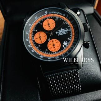 Landmark Chronograph Black Edition / Orange Trim