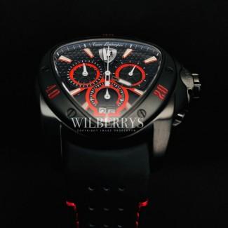 Men's Spyder Black Red Trim Chronograph Watch