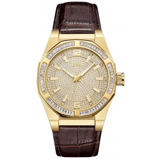 Men's Apollo 0.10 ctw Diamond Rose Gold/Brown Watch