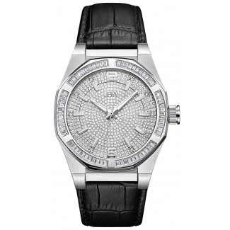Men's Apollo 0.10 ctw Diamond Stainless Steel Watch Silver