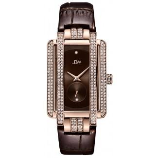 Women's Mink .12 ctw Diamond 18K Rose Gold-Plated Dark Chocolate Watch