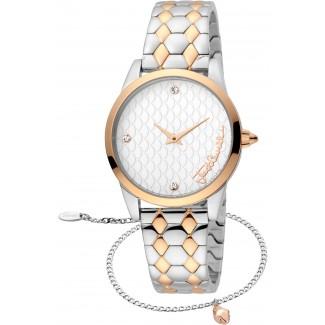Animalistic Diamante Zironia Two Tone Rose Gold + Free Bracelet