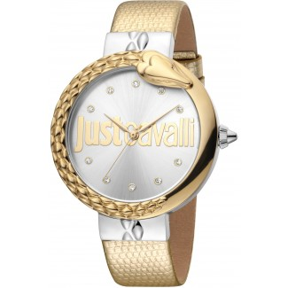 Bold 40mm Leather Gold/Golden Zirconia
