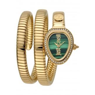 Eva Snake Twist Zirconia Gold/Green