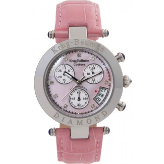 Women's Couture Diamond Chronograph Watch Pink