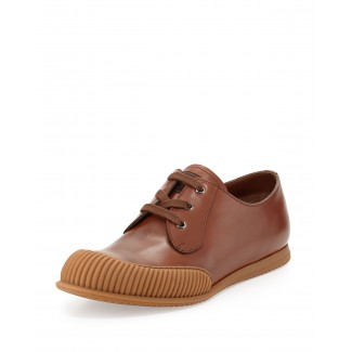 Runway Rubber-Toe Low-Top, Tan