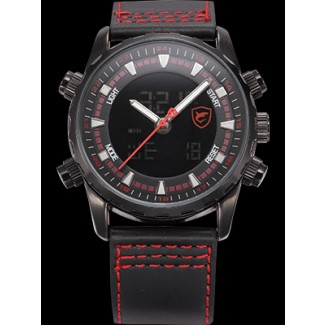 Men's Bull Shark Dual LED Stopwatch Chronograph Watch SH133