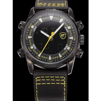 Men's Bull Shark Dual LED Stopwatch Chronograph Watch SH135