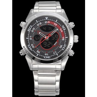 Men's Snapper Shark Dual LED Stopwatch Chronograph Watch