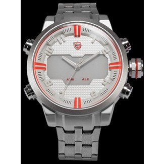 Men's Sawback Angelshark Type B Dual LED Stopwatch Chronograph Watch