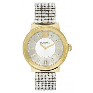 Swarovski Women's Swiss Piazza Clear Crystal Mesh Bracelet 36mm