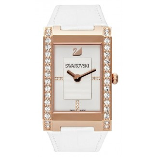 Swarovski Women's Swiss Citra White Croc Embossed Leather Strap